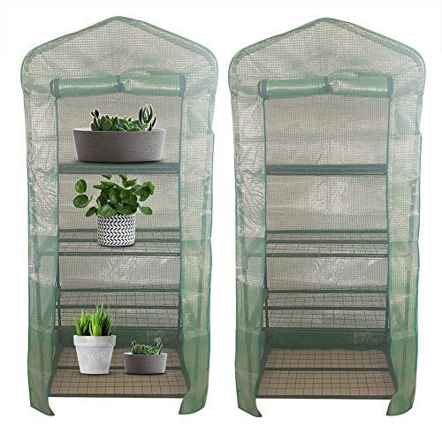 Asixx Foliengewächshaus Folienzelt, Pflanzenhaus Pflanzenabdeckung aus PVC Wasserdicht und Gegen UV-Strahlen für Pflanzen und Blumen (69 * 49 * 160cm)