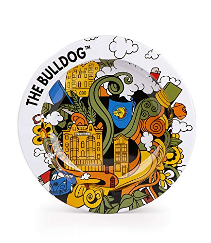The Bulldog Cendrier en metal blanc Amsterdam