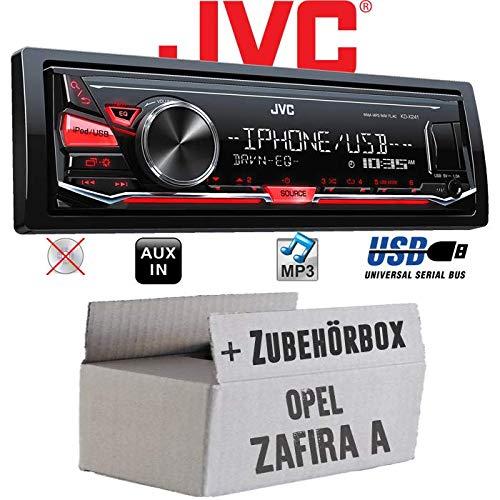 mächtig JVC KD-X262 – Autoradio USB MP3 – Opel Zafira Ein Installationskit – Bester Sound für Audiosysteme