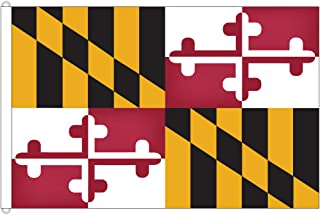 Flags Poles And More Maryland 8ftx12ft Nylon State Flag 8x12 Made in USA 8'x12'