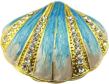 Masque Africain 30cm en Bois d/écor Gecko Sable et Coquillages Cauris