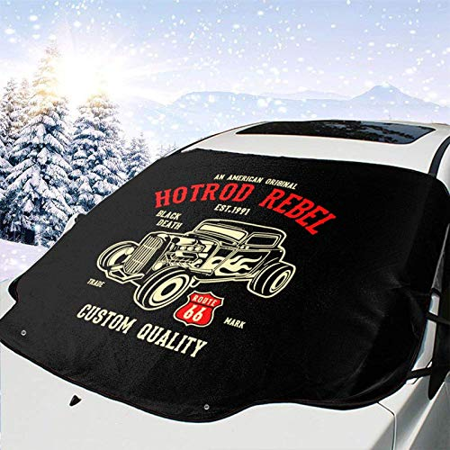 JONINOT Hot Rod Rebel All Weather Universal Winter Parabrisas de Coche Cubierta de Nieve Eliminación de Hielo Parasol