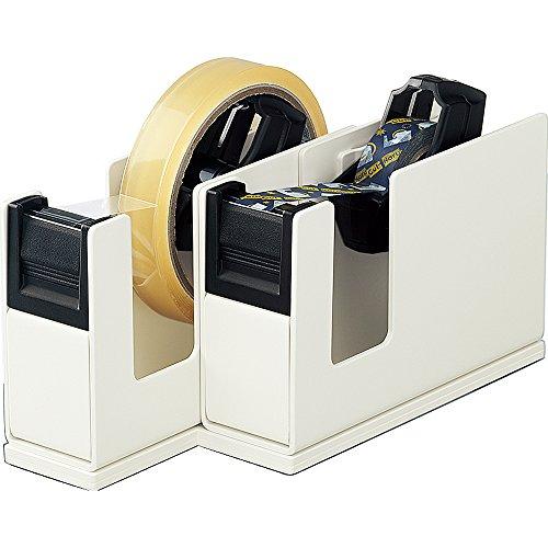 コクヨ テープカッター カルカット 2連タイプ ライトグレー T-SM110LM