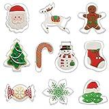10 Pezzi Formine Biscotti Stampini,Formine Biscotti Natalizie,Tagliabiscotti Natalizi Set,Acciaio Inox Stampi Biscotti,Stampini Forme Biscotti Natale,Decorazioni Natalizie