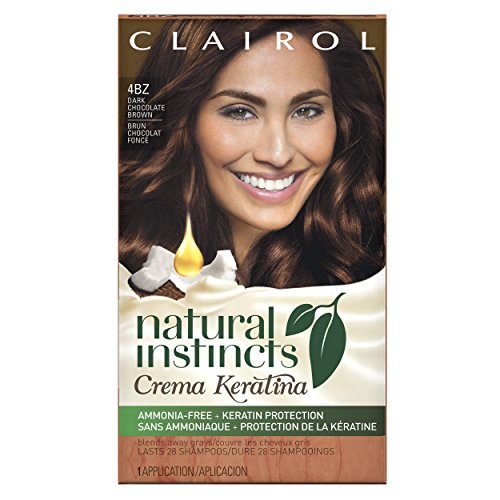 Clairol Natural Instincts Crema Keratina Hair Color Kit, 5BZ Chocolate Crème, Clairol Natural Instincts Hair Color, Semi-Permanent Hair Dye