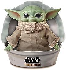 Mattel Star Wars The Child Plush Toy, 11-inch Small Yoda-like Soft Figure from The Mandalorian, Green