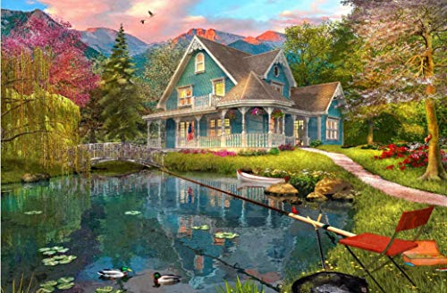 WUUNDENTOY Jigsaw Puzzle The Fishing Retreat 1,500 Pieces Gold Edition (2308)