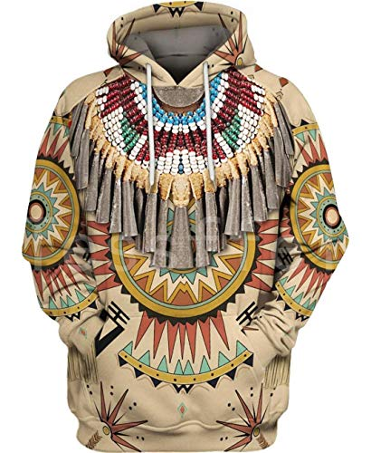 Indian Native Harajuku Colorful Chándal 3D Full Print Hoodie/Sweatshirt/Jacket Just Picture L