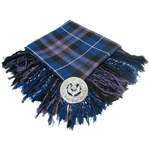 Tartanista - Herren Fly Plaids für Kilt - mit Brosche - Honour of Scotland