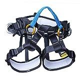 Yundxi - Imbracatura di sicurezza a metà corpo, per arrampicata, potatore, alpinismo, salvataggio, recuperi ecc., Blu