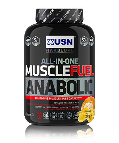 USN Muscle Fuel Anabolic Banana Protein Shake 4KG: Workout Boosting All in One Muscle Gain Protein Powder