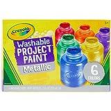 Crayola 6 Botes de pintura lavable Metálica , color/modelo surtido