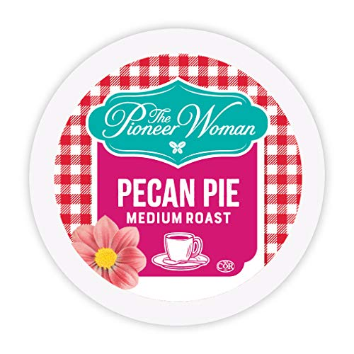 The Pioneer Woman Flavored Coffee Pods, Pecan Pie, Pecan Coffee, Flavored Single Serve Coffee Pods for Keurig K Cups Machines, 24 Count
