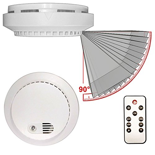 PalmVID DVR LITE Smoke Detector Hidden Camera Spy Camera with Adjustable View
