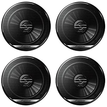 4 x Pioneer TS-G1620F 6.5-inch 2-Way Car Audio coaxial Speakers 6-1/2  with DiscountCentralOnline 25ft Speakers Wire