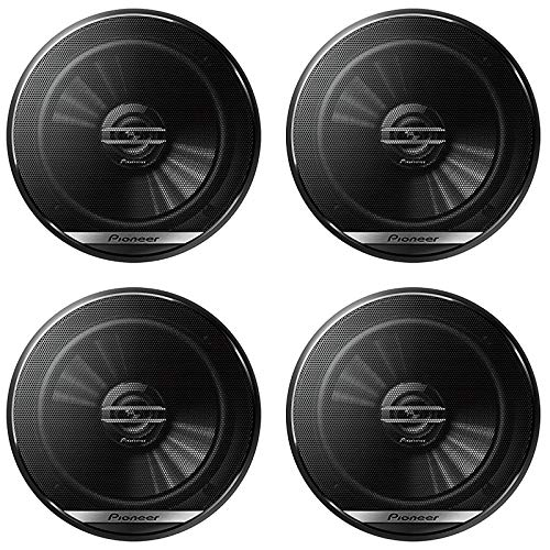 """4 x Pioneer TS-G1620F 6.5-inch 2-Way Car Audio coaxial Speakers 6-1/2"""" with DiscountCentralOnline 25ft Speakers Wire"""