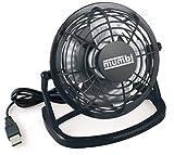 mumbi USB Ventilator - Mini USB Fan für den Schreibtisch mit An/Aus-Schalter in schwarz