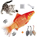 HZONE Electric Flopping Fish Cat Toy, Realistic...