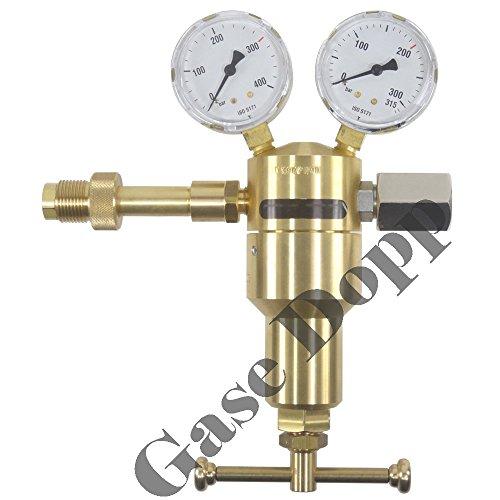 Gase Dopp Druckminderer Druckluft Pressluft 300 bar - stufenlos regelbar 0-200 bar Ausgang G 5/8