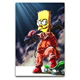 WPQL Anime The Simpsons Cool Bart Simpson Poster Wandkunst