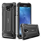 J&D Compatible para Galaxy J7 2018 Funda, [Armadura Delgada] [Doble Capa] [Protección Pesada] Híbrida Resistente Funda Protectora y Robusta para Samsung Galaxy J7 (Release in 2018) - Negro