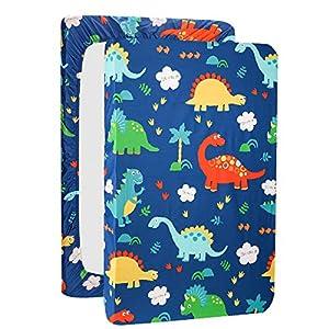crib bedding and baby bedding pack n play playard sheet dinosaur mini crib sheet fitted playard mattress sheet,100% natural cotton mini portable crib sheets for boys and girls 1 pack