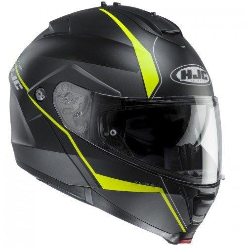Casco de moto HJC IS Max II Mine MC4HSF, negro/amarillo, tamaño L