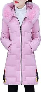 SONIGER ʕ•ᴥ•ʔ Women Winter Long Sleeve Down Jacket Faux Fur Hoodie Zip Up Cotton-Padded Warm Jacket Outwear Overcoat