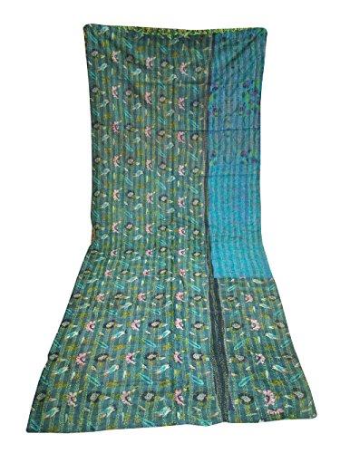silkroude Silk Patchwork Handmade Tagesdecke Bettüberwurf Kantha Hand Stich Decke Quilt Art