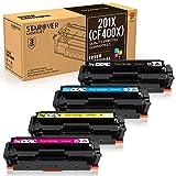 STAROVER Reemplazo Cartucho de Tóner Compatible para HP 201A 201X CF400A CF400X CF401X CF402X CF403X para HP Color Laserjet Pro MFP M252dw M252n M277dw M277n M274n M274dw Impresora (4 Paquete)