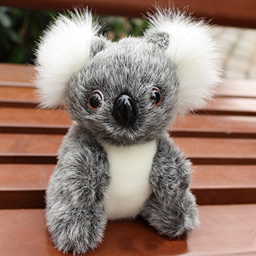Ywoow Cute Stuffed Simulation Koala Zoo Animals Gift Koala Toy Children Doll 13cm GY