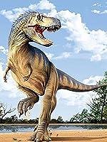 大人の子供のためのジグソーパズル恐竜 家族の楽しいジグソーパズル家の装飾絵画誕生日プレゼント(1000個/75.5x50.5cm)