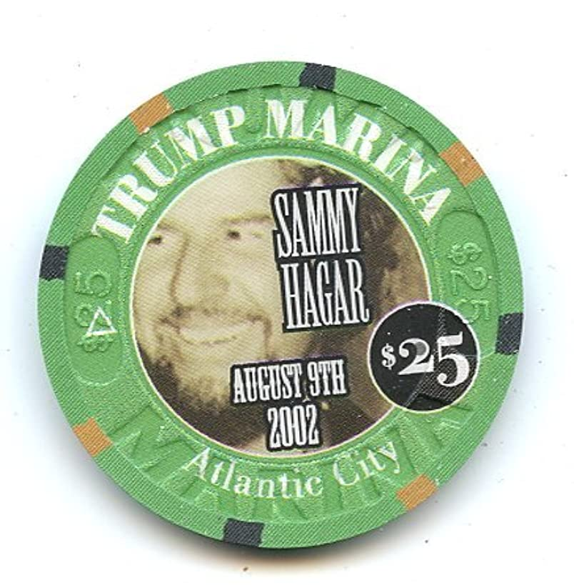 25 Trump Marina Sammy Hagar Live August 9th 2002 MAS TEQUILA COBO WABO Atlantic City Chip Donald Trump 3rd Casino Uncirculated Condition.Highly Collectible!