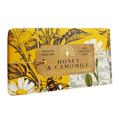 The English Soap Company, Vintage Wrapped Shea Butter Soap, Honey & Camomile, 200g