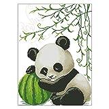 S-TROUBLE Panda DIY Costura Hecha a Mano Contado 14CT Impreso Kit de Bordado de Punto de Cruz Set Decoración del hogar