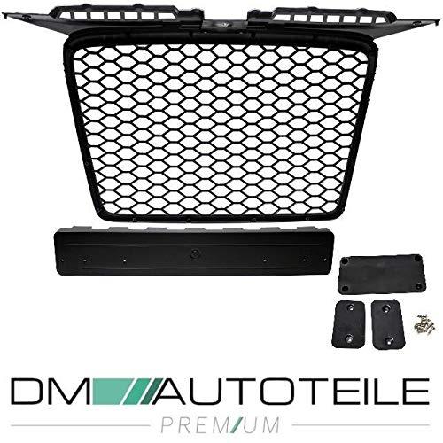 DM Autoteile Kühlergrill Waben Grill Schwarz hochglanz passt für A3 8P 03-08 auch RS3