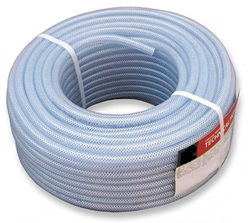 Druckluftschlauch 14 Größen 6 bis 19mm PVC-Schlauch Gewebeschlauch Druckluft 50m (12,5 x 3 mm)