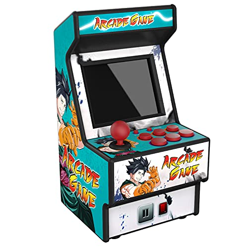 Golden Security Mini Arcade Game Machine RHAC01 156 Máquina portátil de Juegos portátiles clásicos para niños y Adultos con Pantalla Colorida de 2.8 'y batería Recargable