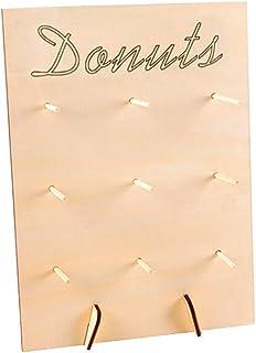 Donut Estantería, Estantería Regalo Cumpleaños Fiesta Soporte de Madera Boda Suministros Mesa Expositor Bricolaje Hogar Postre Decoración - como en la Imagen Show, Free Size