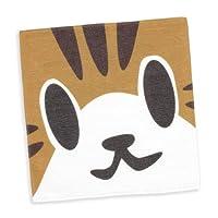 SCOPY (スコーピー) ネコ好き のための 猫柄 タオル ねこがお:キジトラ   ねこ 猫 猫雑貨 (ミニタオル)