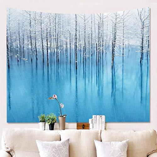 Tapices de tela de pared de alfombra de bosque de árbol tapiz de pared Hippie árbol Tapiz paisaje naturaleza tapiz de pared