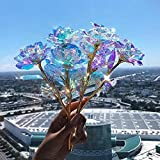 5/10pc Galaxy Rose Flower Gifts for Women Mom,Unique Forever Infinity Rose Colorful Valentine's Day...