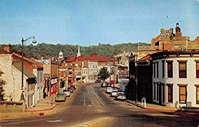 Frankfort Kentucky Main Street from Memorial Bridge Vintage Postcard AA7754