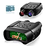 KINKA Night Vision Binoculars Goggles for Adults, Travel Infrared Digital Night Vision for 100% Darkness, HD Photo & Video with 32GB Card, for Hunting Gear, Surveillance, Spy