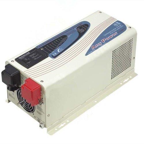 ZODORE PFA Serie Inversor de onda sinusoidal pura 2000W/6000W, cargador con estabilizador regulador de voltaje automático (AVR) 24V/220V, LED & LCD