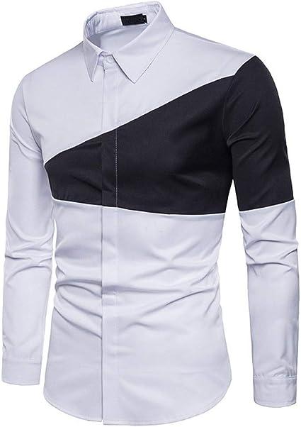 Camisa De Algodón For Hombre Moda De Costura con Camisa De ...