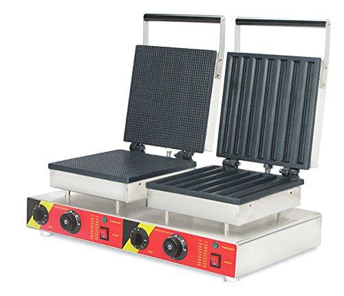cgoldenwall NP-580 Commercial oliekrulmachine 2-in-1 wafelijzer fornuis elektrische en wafelijzer broodrooster wafelijzer wafle Baker Spanje maakt lopen machine - 220V
