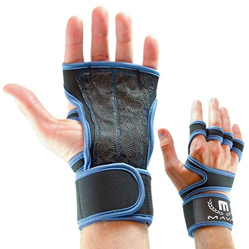 Gym Padding Gloves for WODs, Pull Ups, Kettlebell - Silicone Workout Lifting Gloves - Sports Gloves for Gym –Callus Guard Gloves for Weightlifting & Cross Training, WOD Grips - Pair