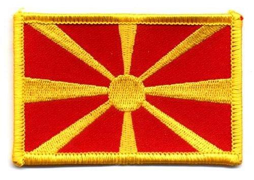 Flaggen Aufnäher Patch Mazedonien Fahne Flagge