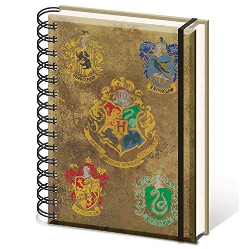 HARRY POTTER (Hogwarts Crest & Four Houses A5 Not, Standard, SR72083